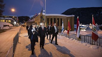 Президент Украины Петр Порошенко на Экономическом форуме в Давосе