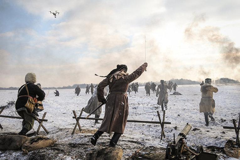 Бойцы Нацгвардии снялись в историческом экшне о бое под Крутами