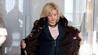 Председатель Государственной аудиторской службы Украины Лидия Гаврилова во время заседания Соломенского суда по избранию ей меры пресечения, в Киеве, 25 января 2018