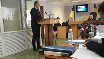 Андрей Парубий на заседании суда по делу Виктора Януковича