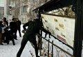 В Киеве радикалы из С14 напали на часовню возле Десятинной церкви