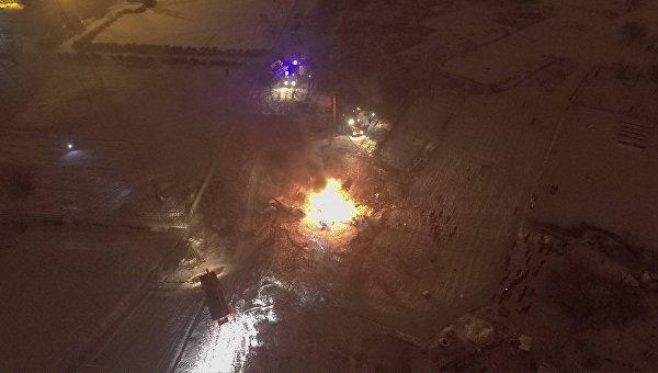 Все находившиеся на борту упавшего в Кременчуге вертолета погибли