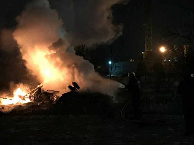 На месте катастрофы МИ-8 в Кременчуге