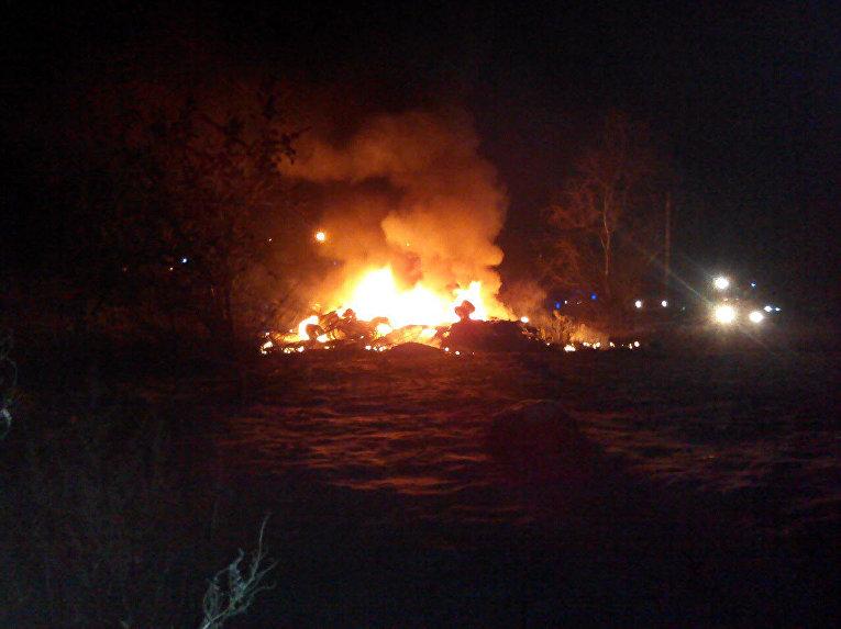 Крушение вертолета Ми-8 в Кременчуге. На месте ЧП
