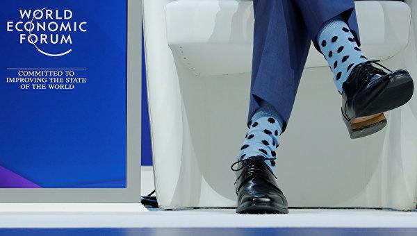 Носки Джастина Трюдо во время выступления на Всемирном экономическом форуме в Давосе