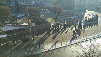 Противники сноса памятника Тарасу Шевченко в Виннице