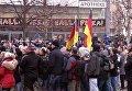 Демонстрации в немецком в Коттбусе из-за нападений беженцев