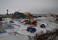Замерзший акварпарк в Кирилловке (Запорожская область)