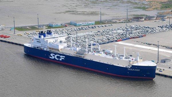 Арктический танкер-газовоз Кристоф де Маржери (ледового класса Arc7)