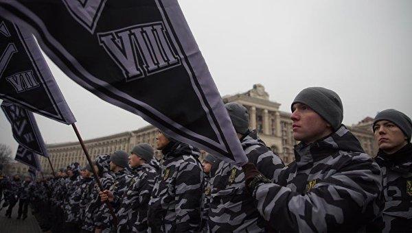 Акция Национального корпуса в Киеве. Архивное фото