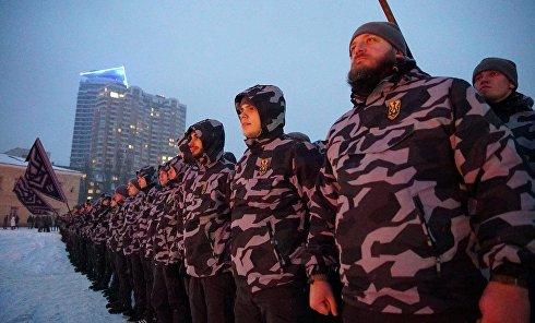 """Акция """"Национального корпуса"""" в Киеве"""