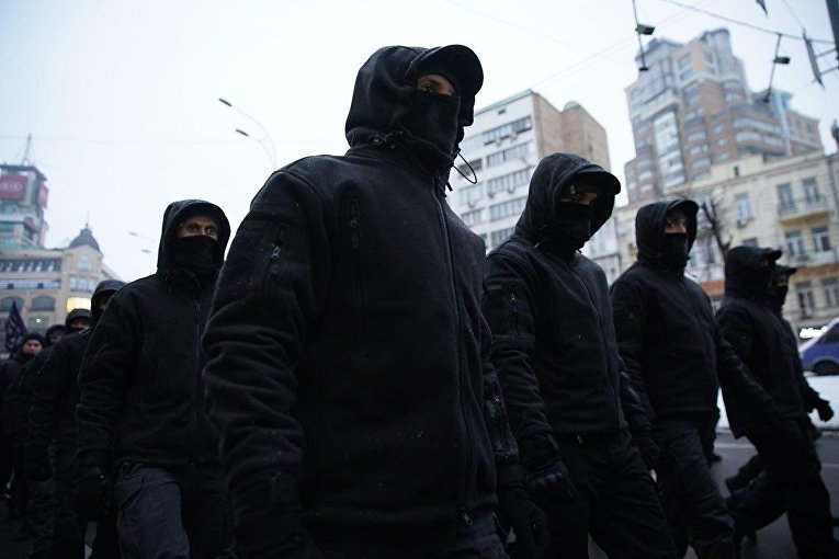 Акция Национального корпуса в Киеве