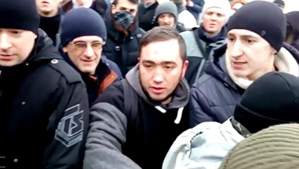 Акции против УПЦ. Появились новые кадры львовских разборок националистов. Видео