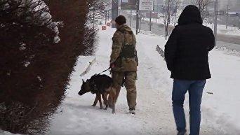 Полиция работает на месте взрыва в Харькове
