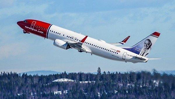 Самолет авиакомпании Norwegian