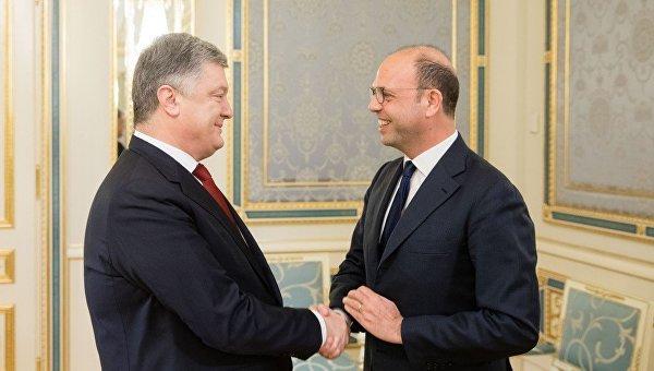 Петр Порошенко провел встречу с Министром иностранных дел и международного сотрудничества Италии, Действующим председателем ОБСЕ Анджелино Альфано