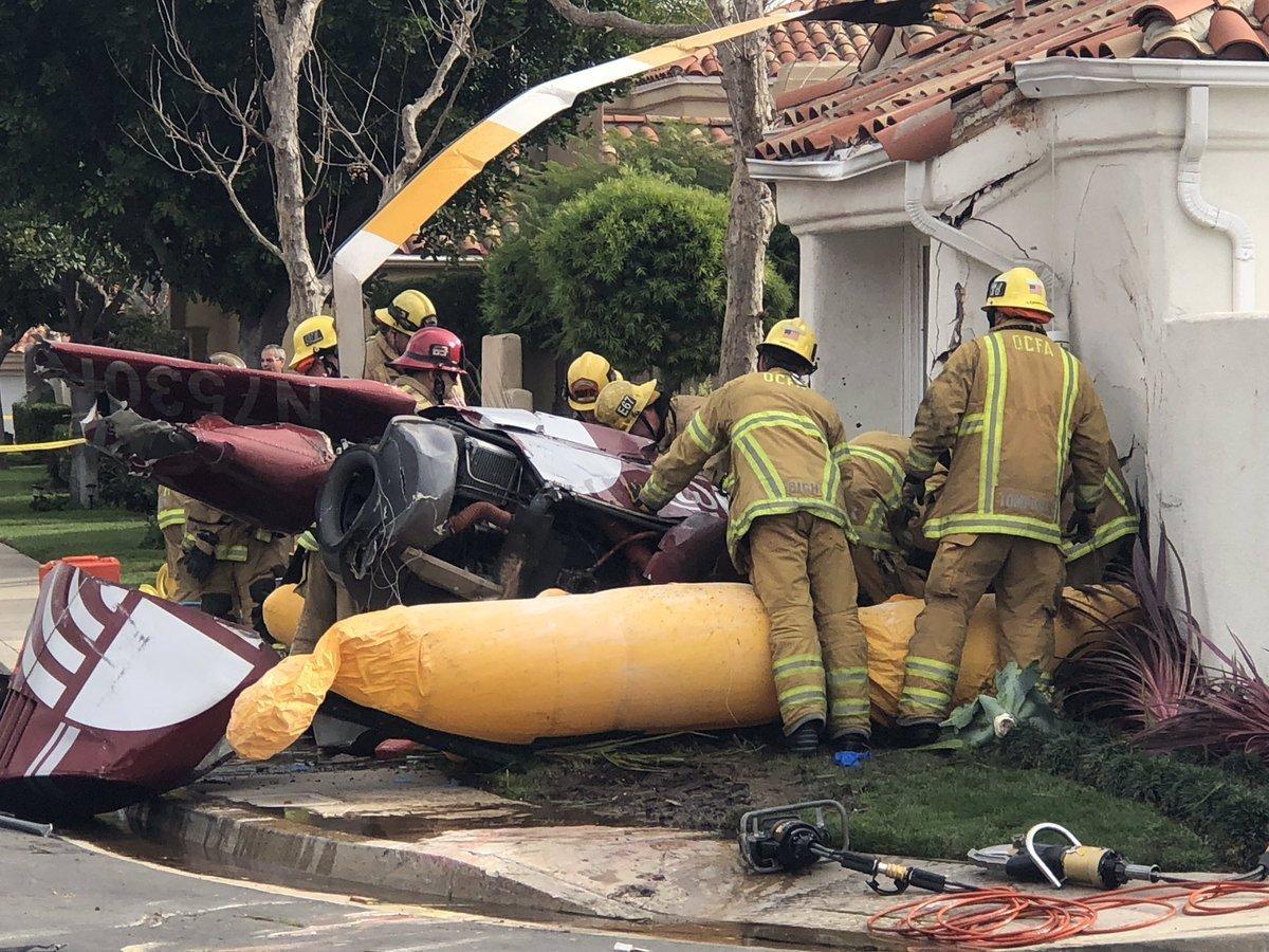 ВСША вертолет рухнул на дом: три человека погибли