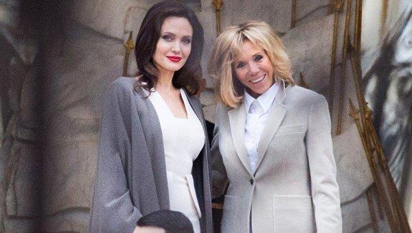Актриса Анджелина Джоли встретилась с супругой президента Франции Бриджит Макрон
