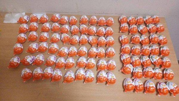 Украденные шоколадные яйца из супермаркета Одессы