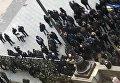 Военные пенсионеры заблокировали здание Кабмина в Киеве