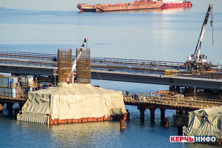 Керченский мост, 1 февраля 2018 года