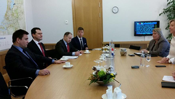 Министр иностранных дел Украины Павел Климкин находится с визитом в королевстве Нидерланды