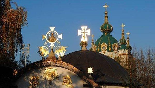 Храм у Десятинного монастыря в Киеве