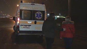 Появилось видео с места жуткой аварии в Киеве. Видео