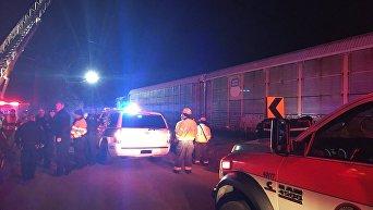 Столкновение поездов в США