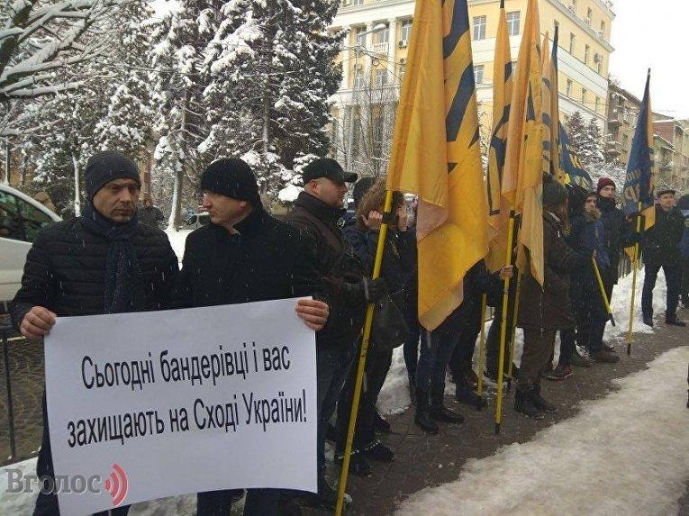 Пикет Генеральное консульство Польши во Львове