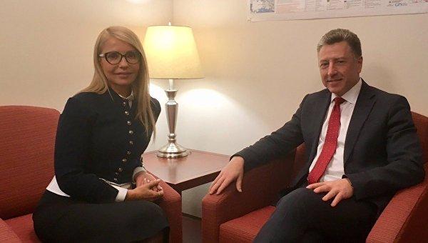 Юлия Тимошенко и Курт Волкер