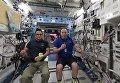 3D-видео первого чемпионата по бадминтону на МКС