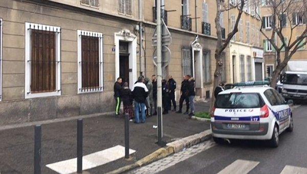 На месте стрельбы в Марселе, 6 февраля 2018