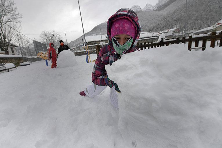 Снегопады вИспании сменятся морозами