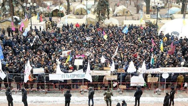 Митинг военных пенсионеров под Радой