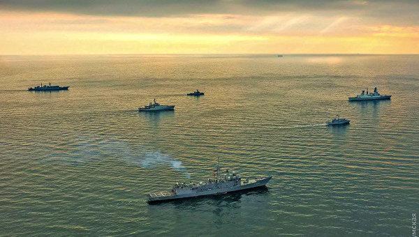 Учения НАТО в Черном море близ Одессы