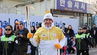 Сергей Бубка - участник эстафеты олимпийского огня, 2018