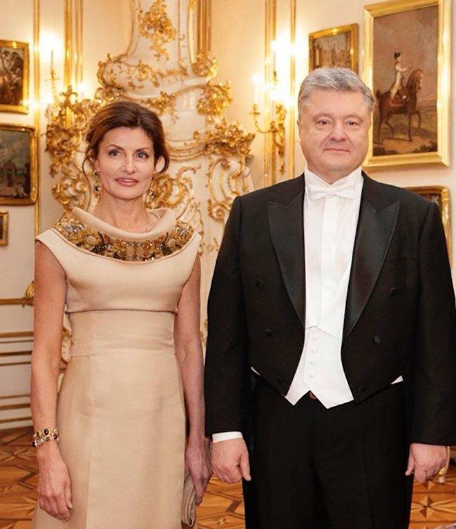 Марина и Петр Порошенко на Венском балу