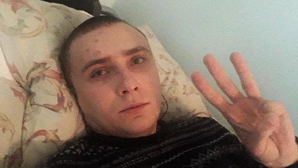 Сергей Стерненко после нападения в Одессе