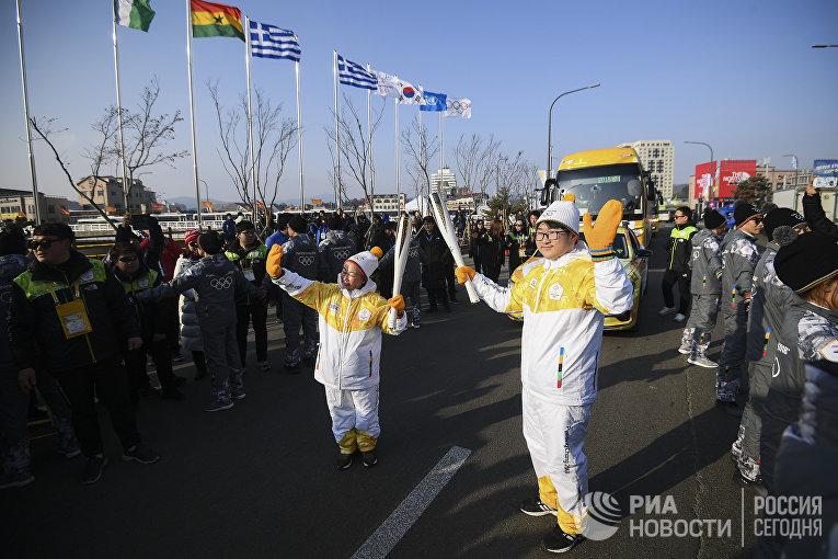 Подготовка к Церемонии открытия XXIII зимних Олимпийских игр