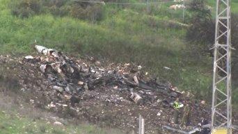 Появилось видео с места крушения сбитого сирийцами F-16 израильских ВВС