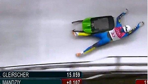 Украинский спортсмен на Олимпиаде выпал из саней