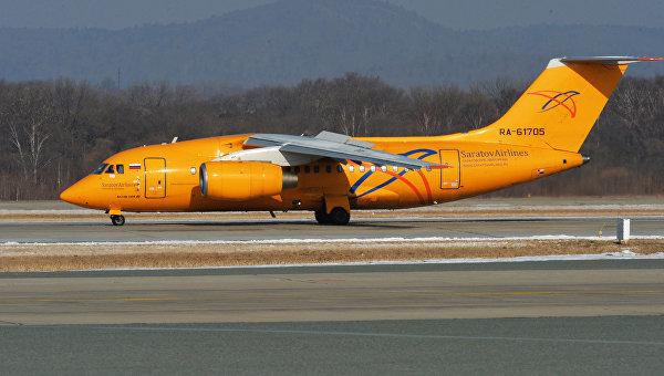 Самолет Ан-148-100В авиакомпании Саратовские авиалинии