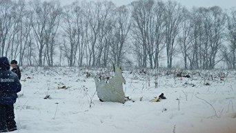 Обломок Ан-148, разбившегося в Подмосковье 11 февраля 2018 года