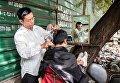 Уличные барбершопы в Камбодже