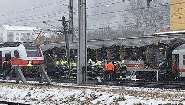При столкновении поездов вАвстрии умер человек