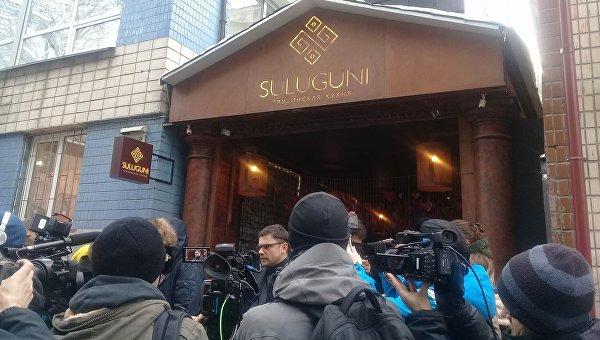 На месте задержания Саакашвили