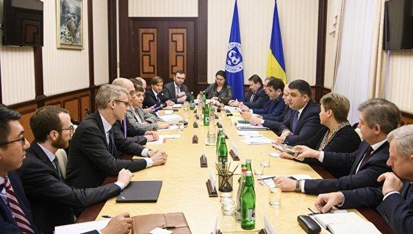 Переговоры членов Кабмина Украины с миссией МВФ
