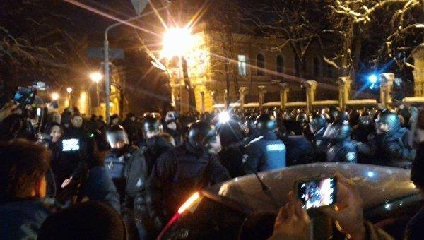 Митинг сторонников Саакашвили под АП, 12 февраля 2018