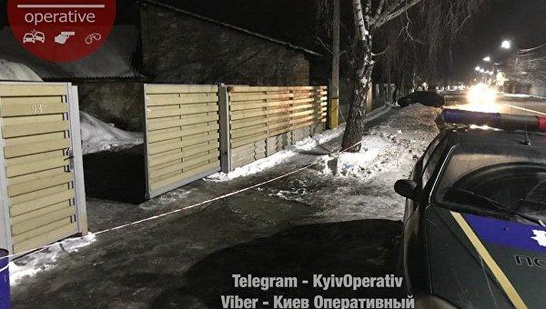 На месте взрыва в Новых Петровцах под Киевом, 12 февраля 2018